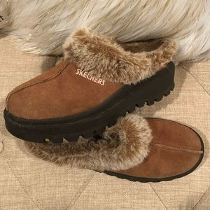 Skechers Fortress Suede Clogs